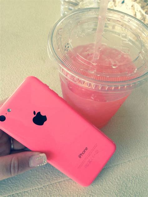 Pink IPhone And Pink Juice Pictures, Photos, and Images