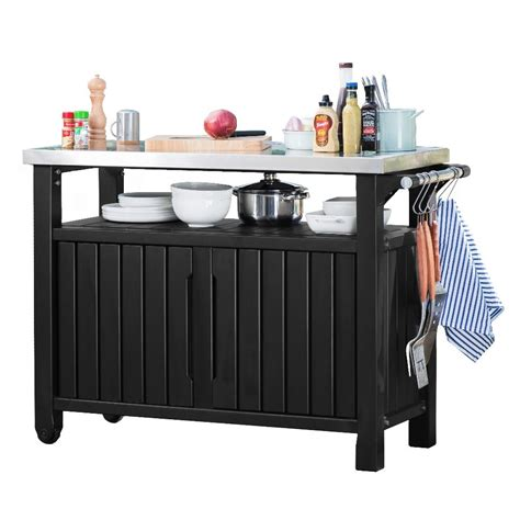 Keter Unity XL Barbecue Accessory Trolley Stand Double