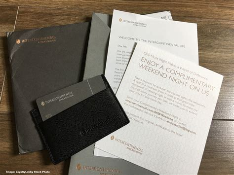 IHG Ambassador Welcome Package No Longer Features The