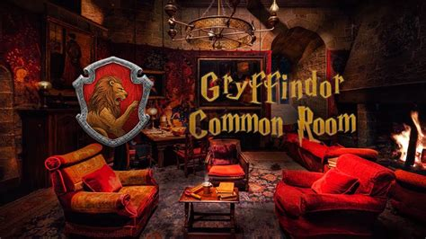 Gryffindor Common Room ⚡ Harry Potter Ambience 🔥 Hogwarts