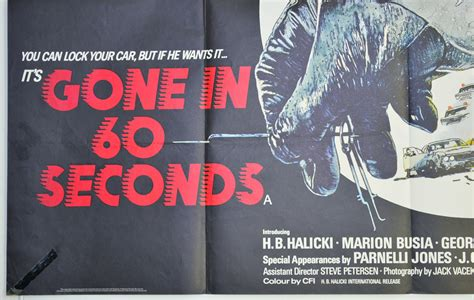 Gone in 60 Seconds - Original Cinema Movie Poster From