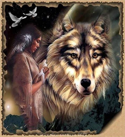 american indian and wolves images | American Indian Wolf