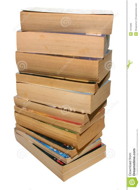 A Stack Of Old Paperback Books Stock Image - Image of