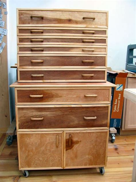 Built this Tool Cabinet for the Shop!   Wood tool box