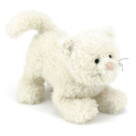 Jellycat CAFF6CT Cafuffle Cat Medium with Organza Pull