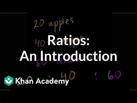 Introduction to ratios (video)   Khan Academy