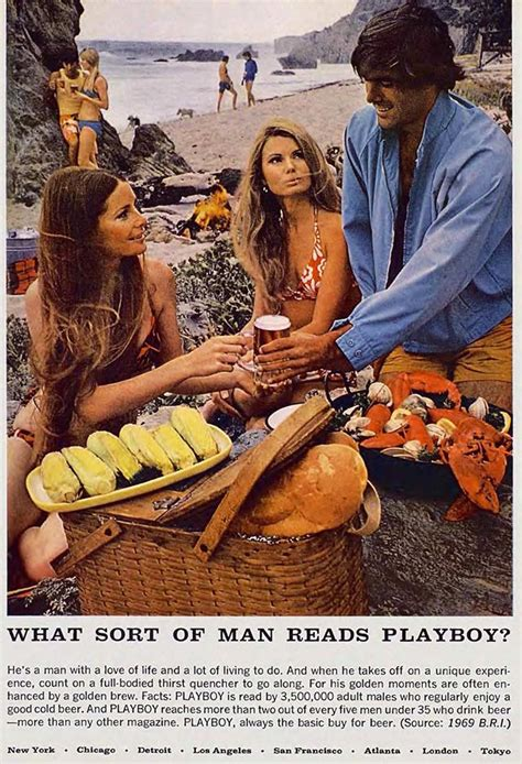 """""""What kind of man reads Playboy?"""" ad campaign from 1960s"""