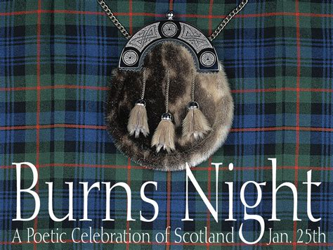 Burn's Night | Events | Bariatric Cookery