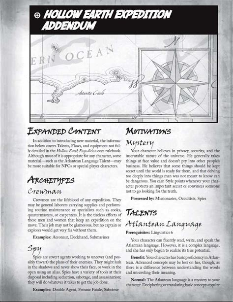 Hollow Earth Expedition GM Screen (Booklet) - Exile Game