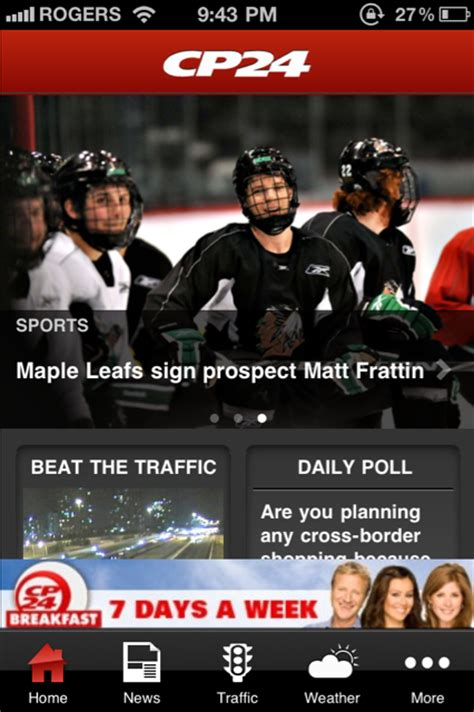 CP24 Breaking News iPhone App Released with Live Traffic