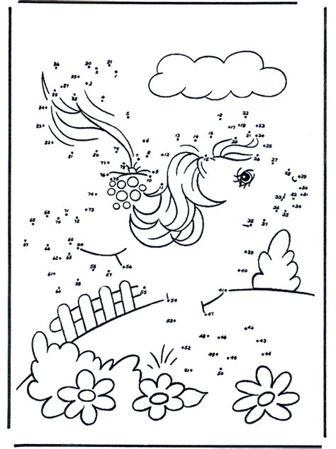 Free coloring pages my little pony - Siffertegning