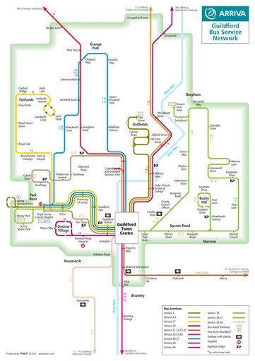 Guildford Bus Network - Maplets