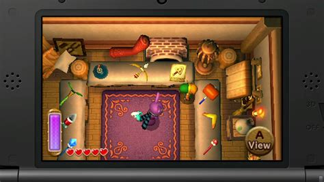 The Legend of Zelda: A Link Between Worlds Weapon and Item