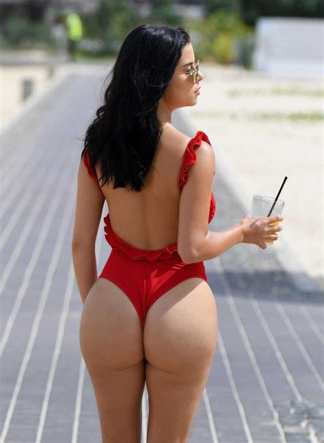 Demi Rose Wears a Red Thong Swimsuit in Cape Verde – Celeb
