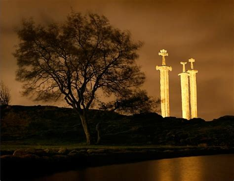 The Hafrsfjord Swords - Photography & Abstract Background
