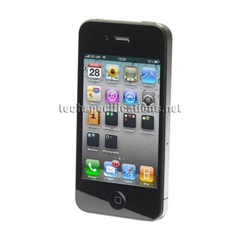 Technical Specifications of Apple iPhone 4 Mobile Phone